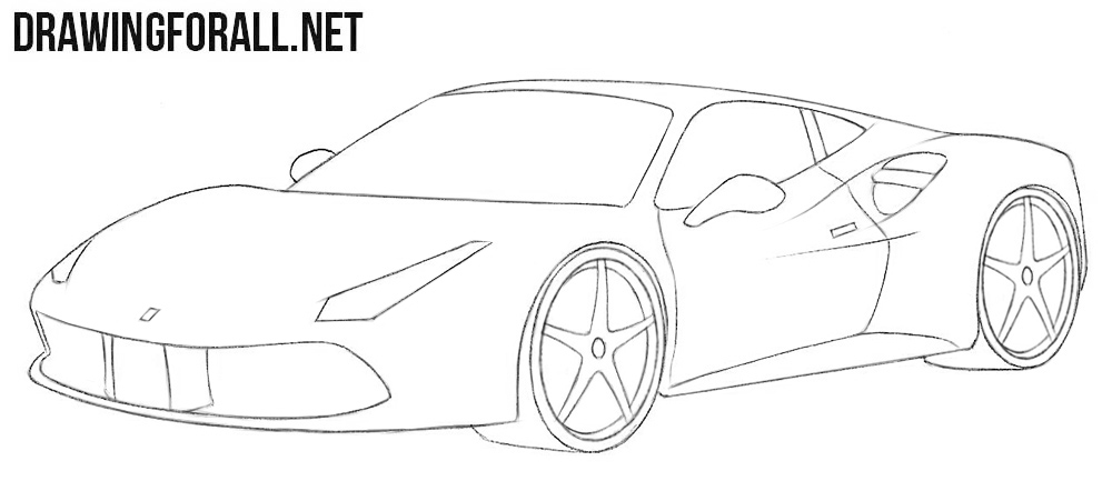 How To Draw A Ferrari Easy Drawingforall Net