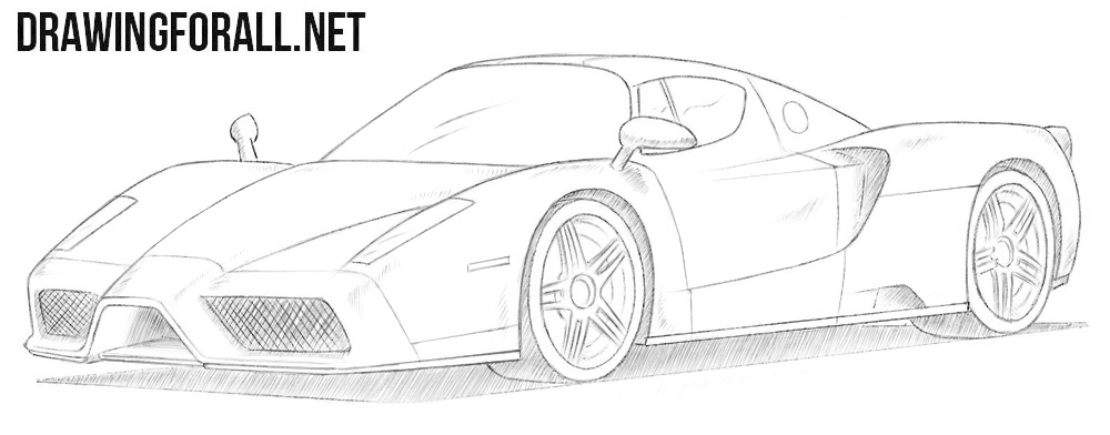 How to Draw a Ferrari Enzo