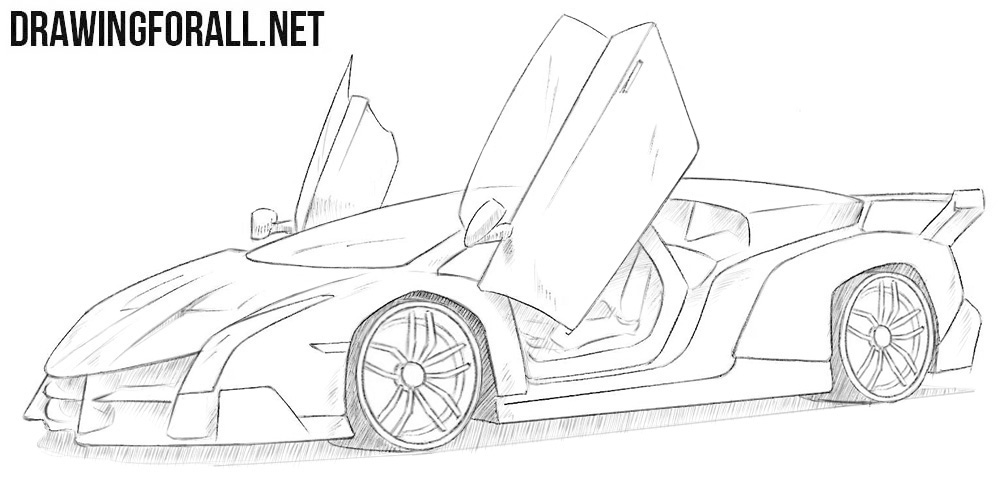 Lamborghini Veneno drawing
