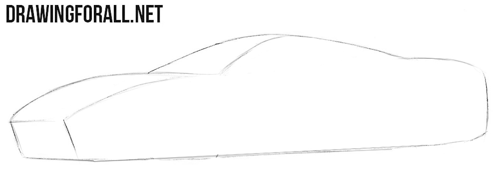 How to draw a Ferrari 488