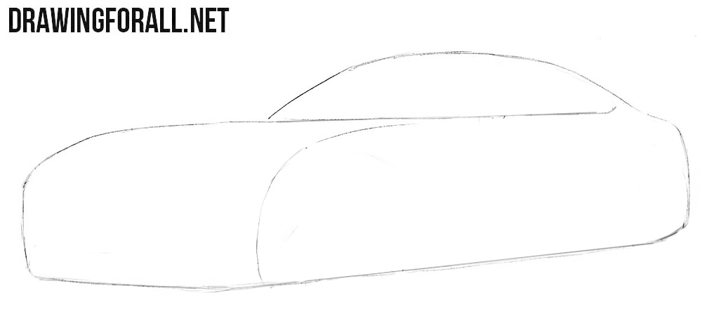 How to draw a Mercedes-Benz easy