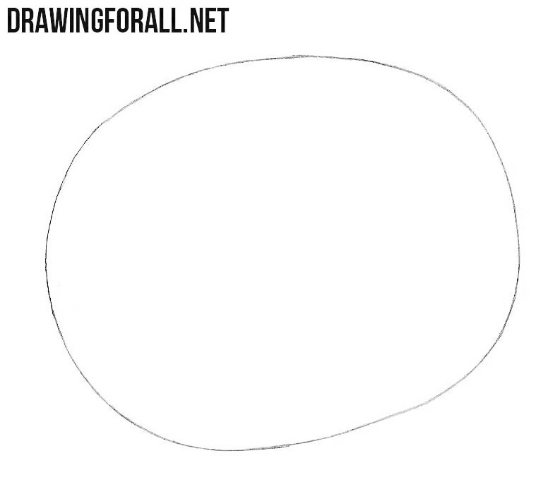 How to draw a kiwi easy