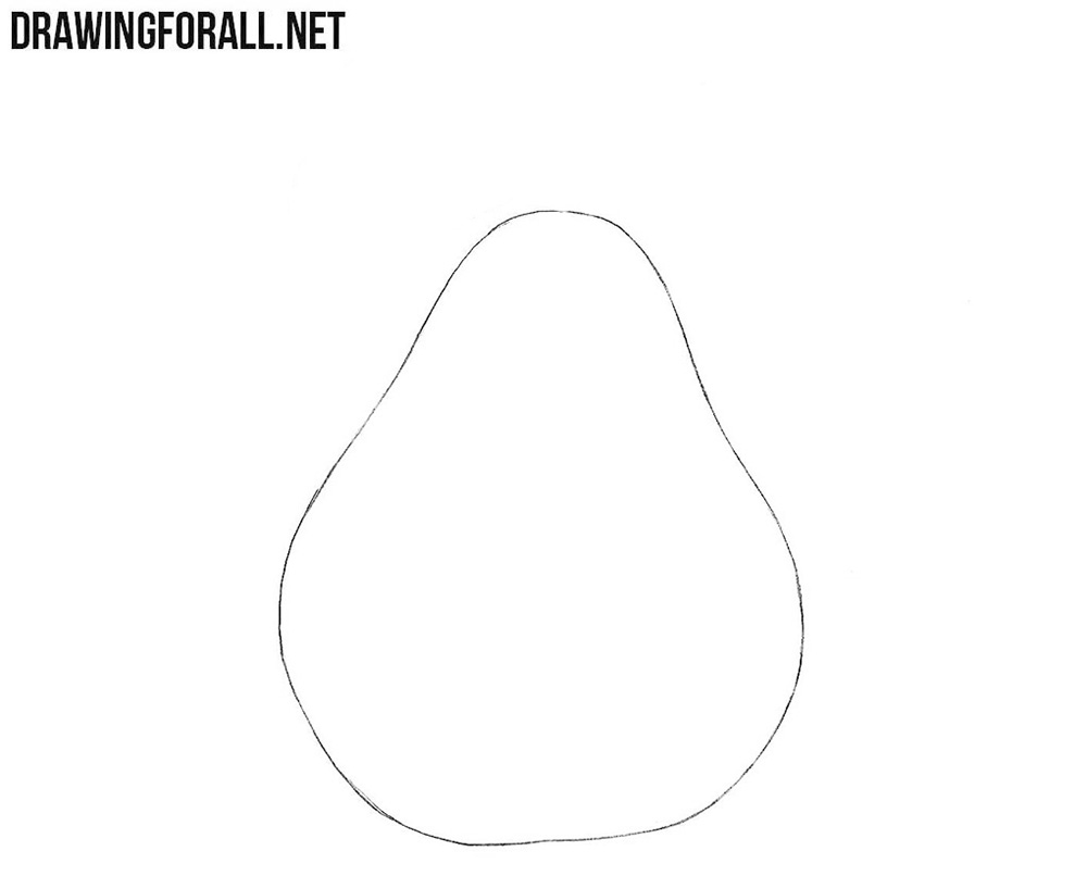How to draw a pear easy step by step
