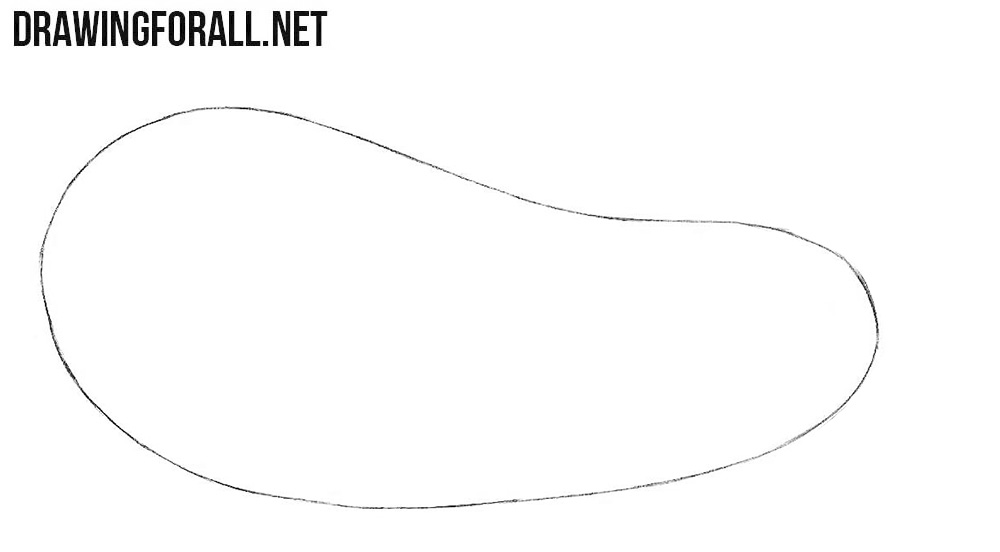 How to draw an eggplant easy