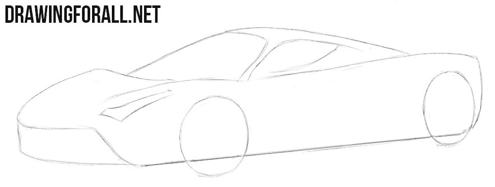 How to draw a Ferrari Laferrari easy