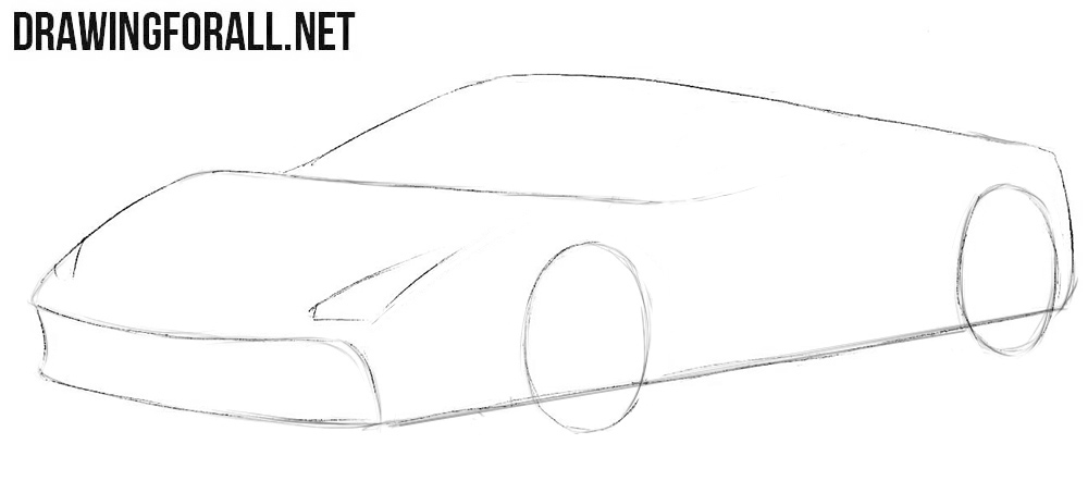 How to draw a Ferrari easily