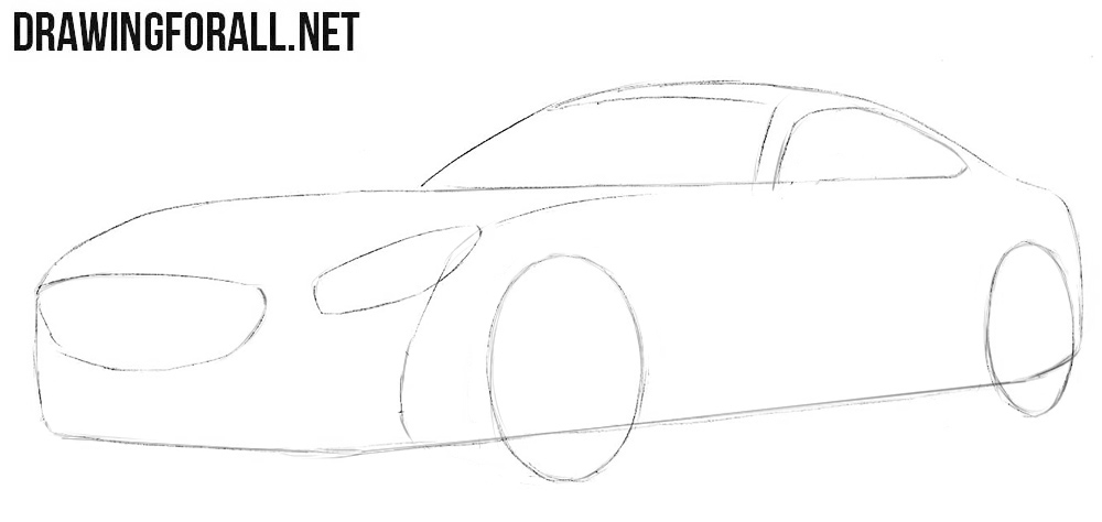 How to draw a Mercedes-Benz for beginners