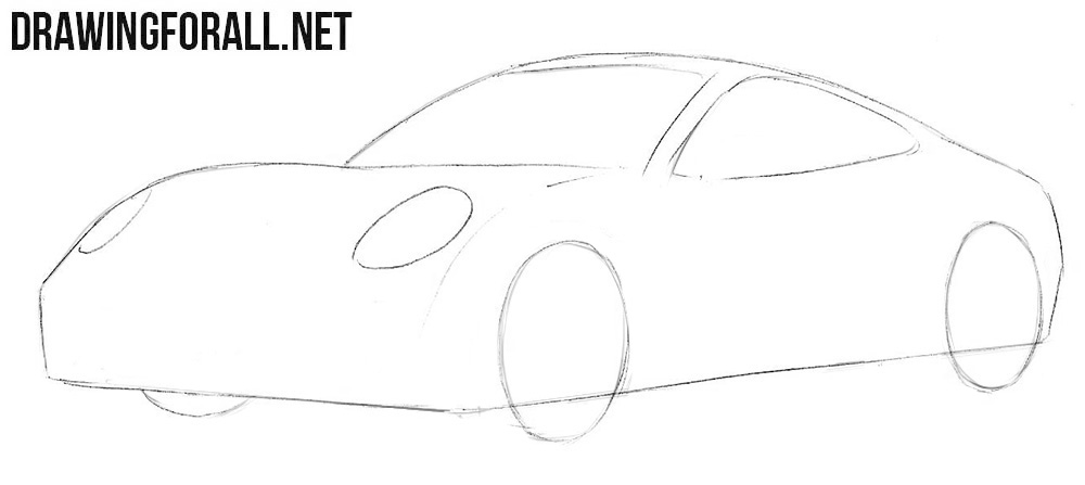 How to draw a Porsche 911 easy