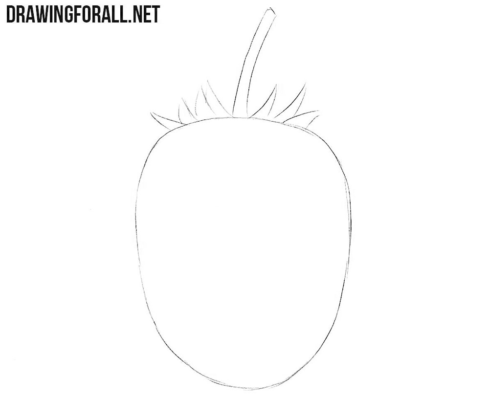 How to draw a blackberry fruit