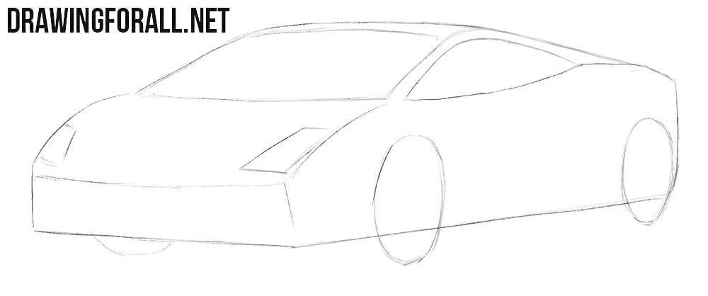 How to draw a car Lamborghini Gallardo