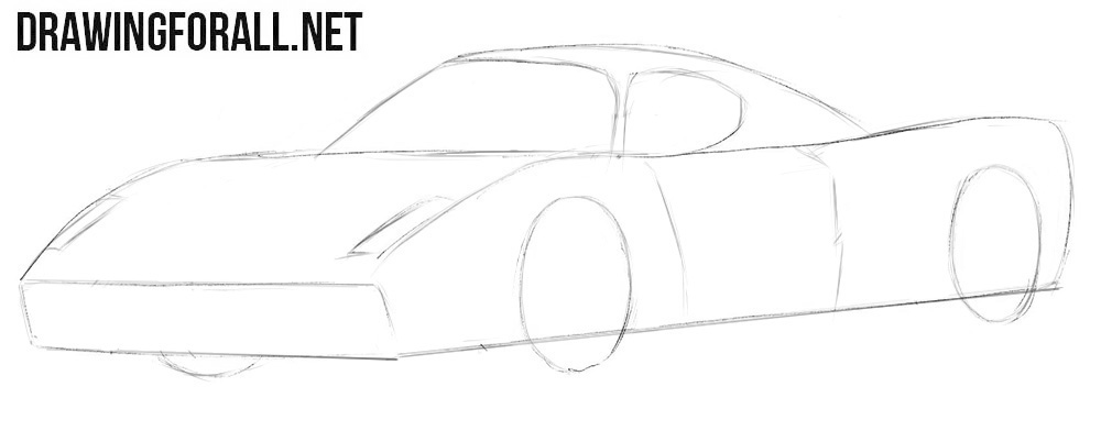 How to draw a cool Ferrari Enzo