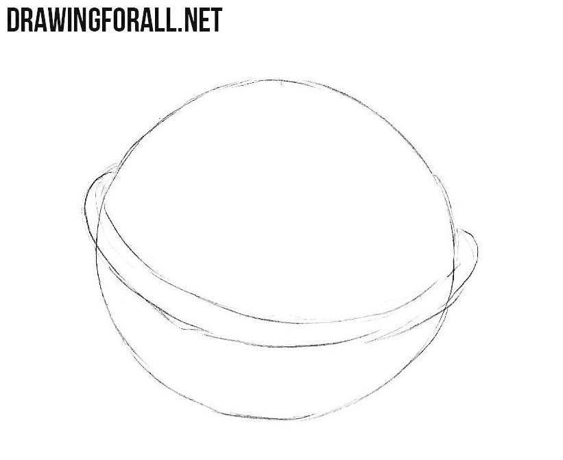 How to draw a walnut step by step