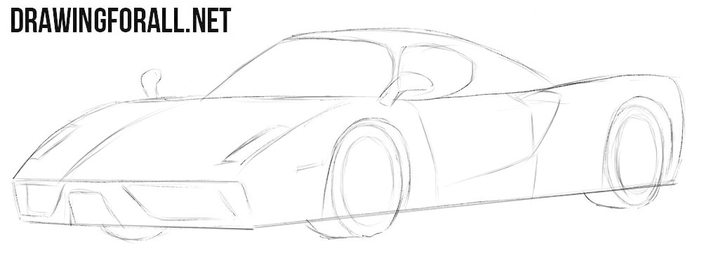 How to draw a Ferrari Enzo easy