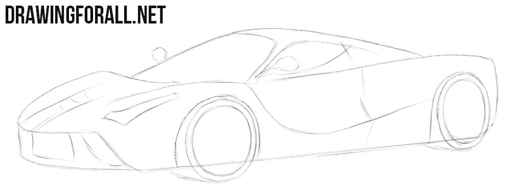 How to draw a Ferrari step by step easy