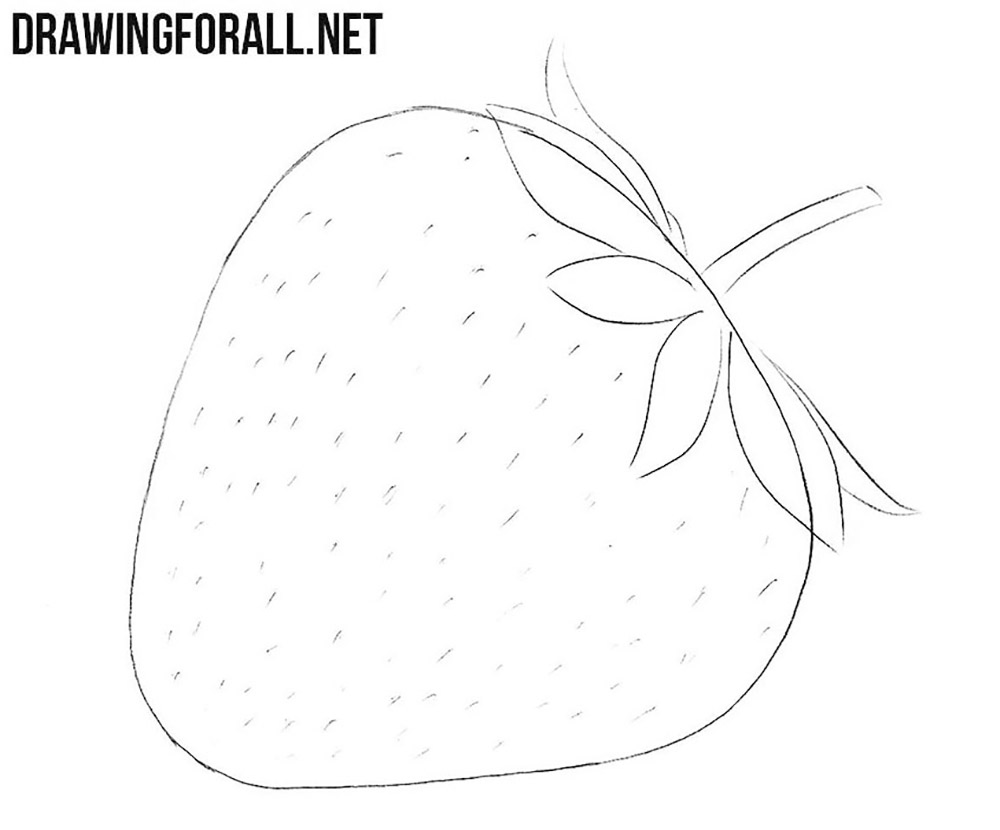 How to draw a strawberry step by step easy