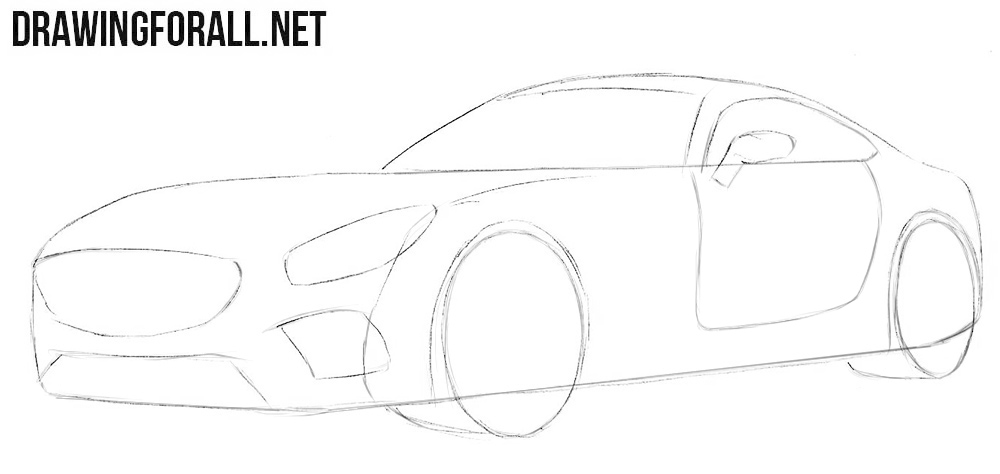 Learn how to draw a Mercedes-Benz step by step