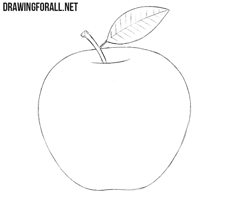 Apple drawing tutorail