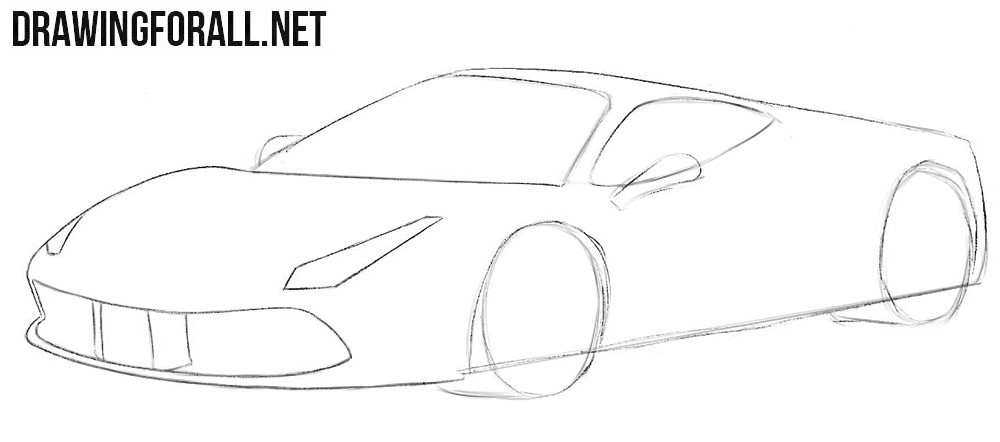 How easy to draw a Ferrari