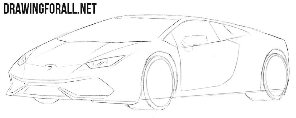 How to draw a Lamborghini