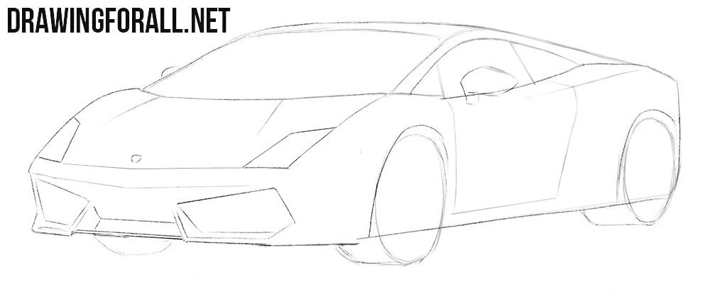 How to draw a Lamborghini Gallardo step by step easy