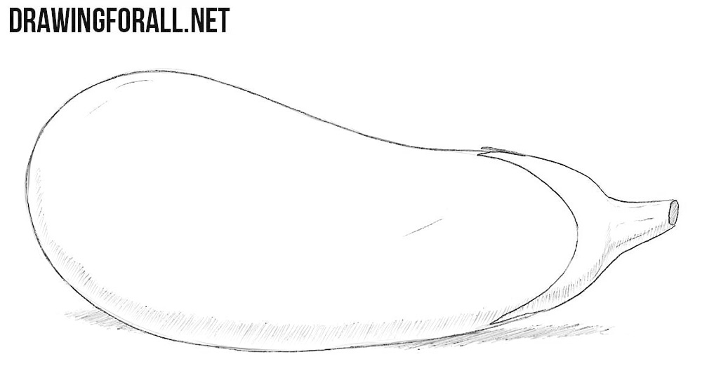 How to draw an eggplant