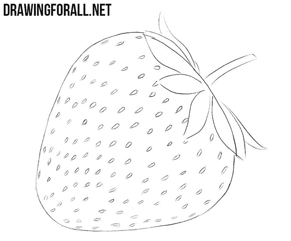 how to draw a strawberry easy
