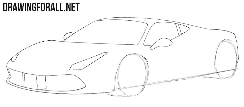 How to draw a Ferrari simple