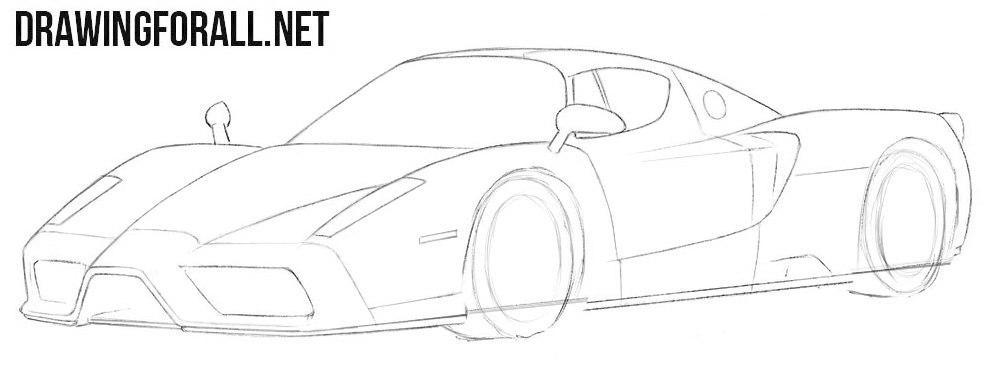 How to draw a Ferrari Enzo step by step