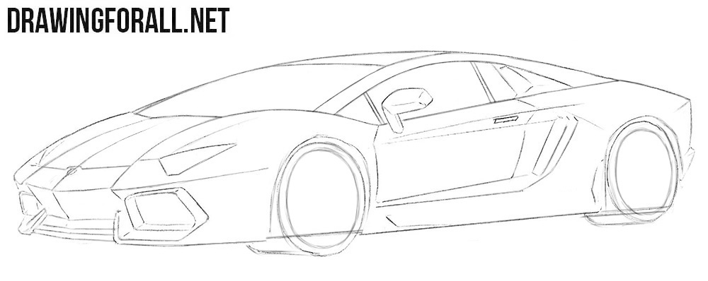 How to draw a Lamborghini Aventador step by step