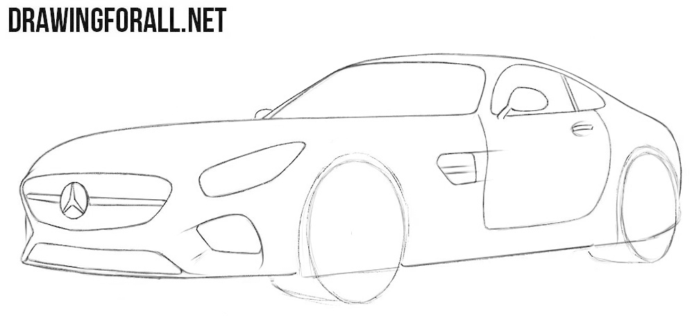 how to easily draw a car step by step