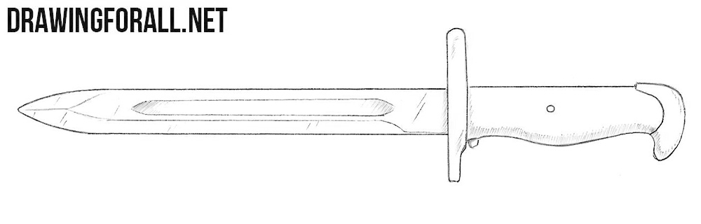 How to draw a bayonet