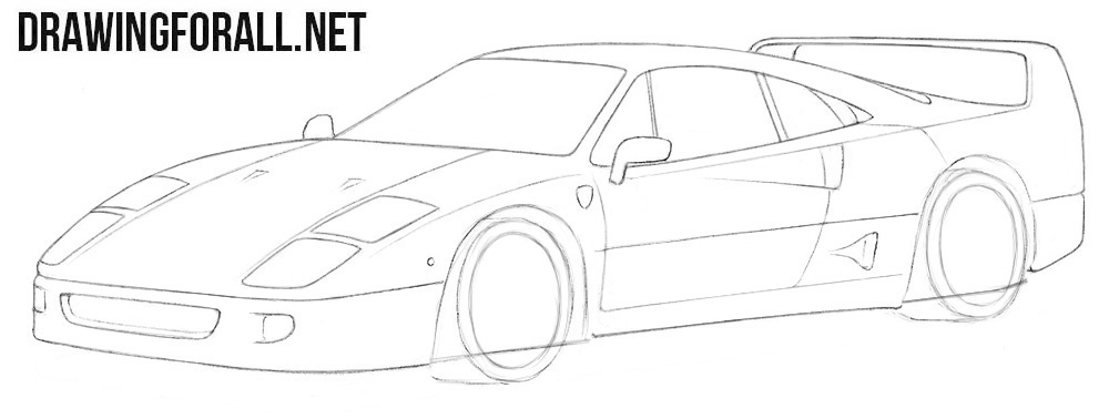 How to draw a cool Ferrari