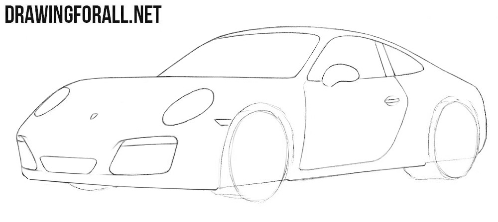 How to draw a super car step by step