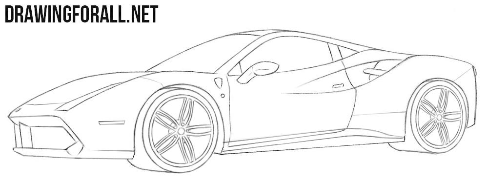 supercar drawing tutorial