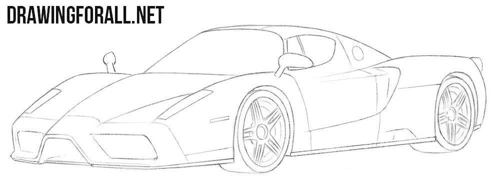 Ferrari Enzo drawing tutorial