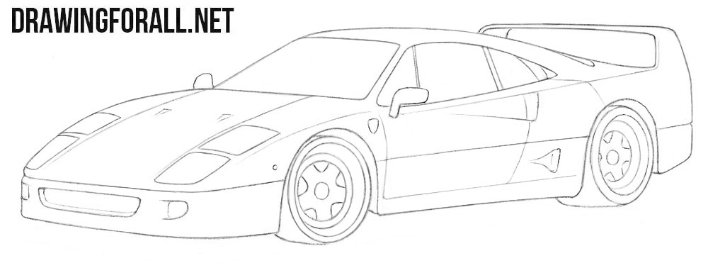 Ferrari f40 drawing tutorial