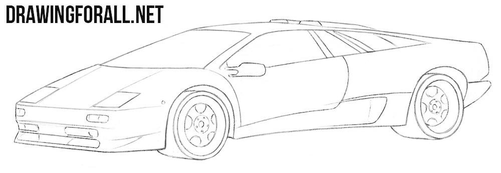 Lamborghini Diablo drawing tutorial