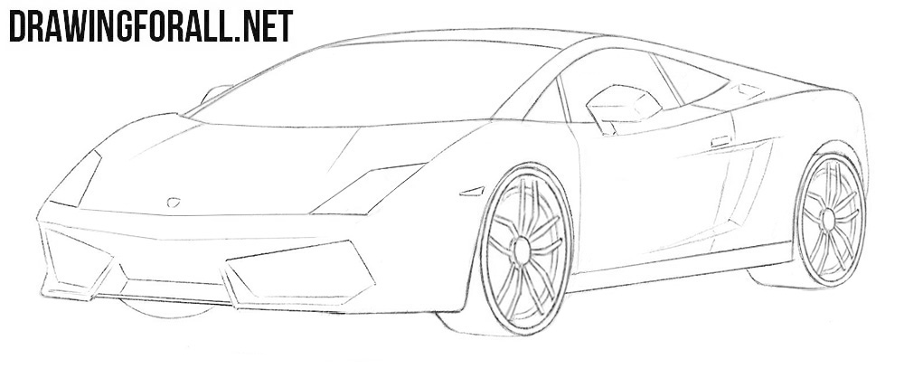 Lamborghini Gallardo drawing tutorial