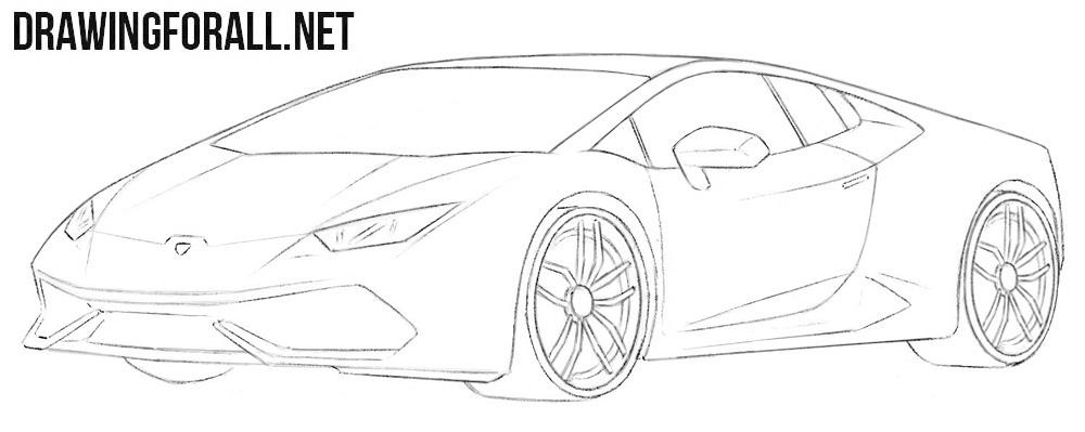 Lamborghini Huracan drawing tutorial