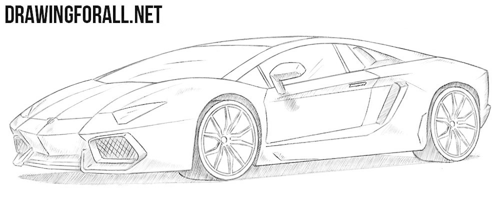 How To Draw A Lamborghini Aventador Drawingforall Net