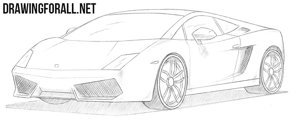 How to draw a Lamborghini Gallardo