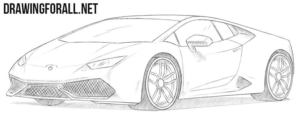 How to draw a Lamborghini Huracan