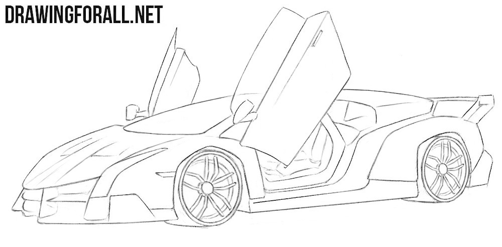 Lamborghini Veneno drawing tutorial
