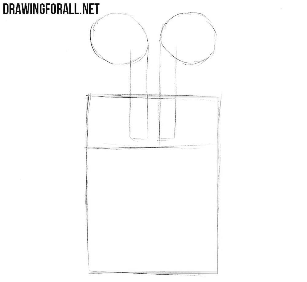 How to draw AirPods step by step