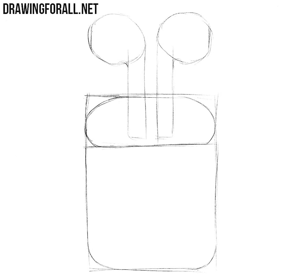 How to draw Apple headphones