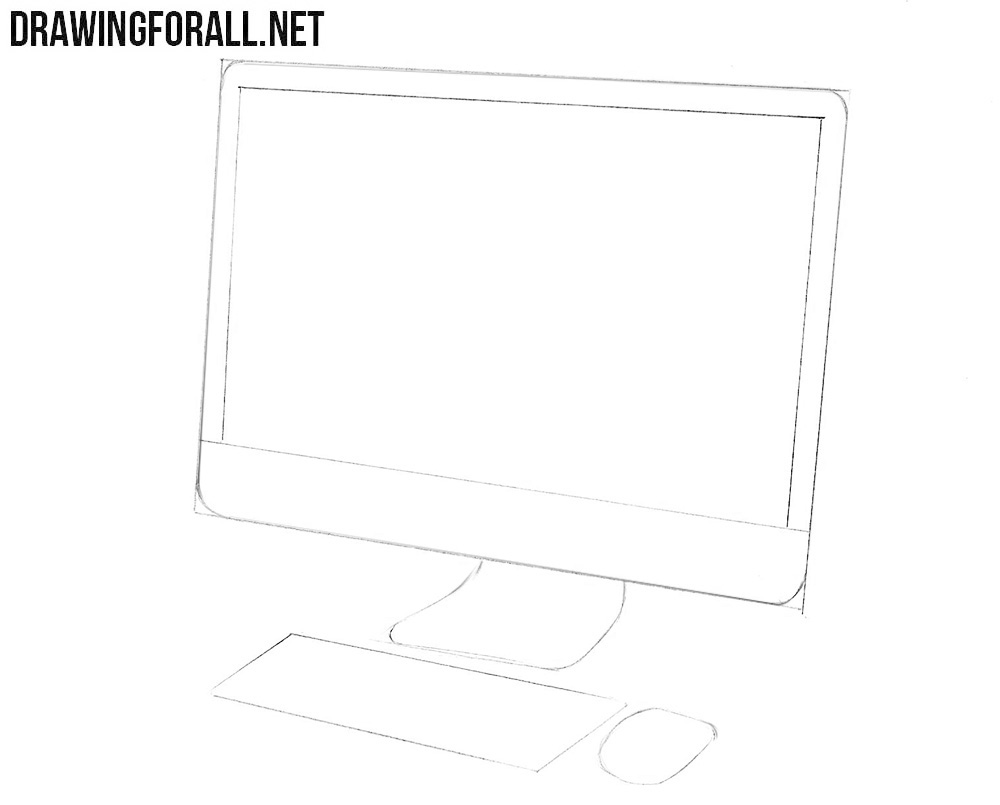 How to draw an iMac step by step