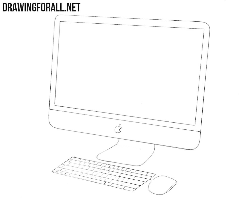 How to draw an Apple computer