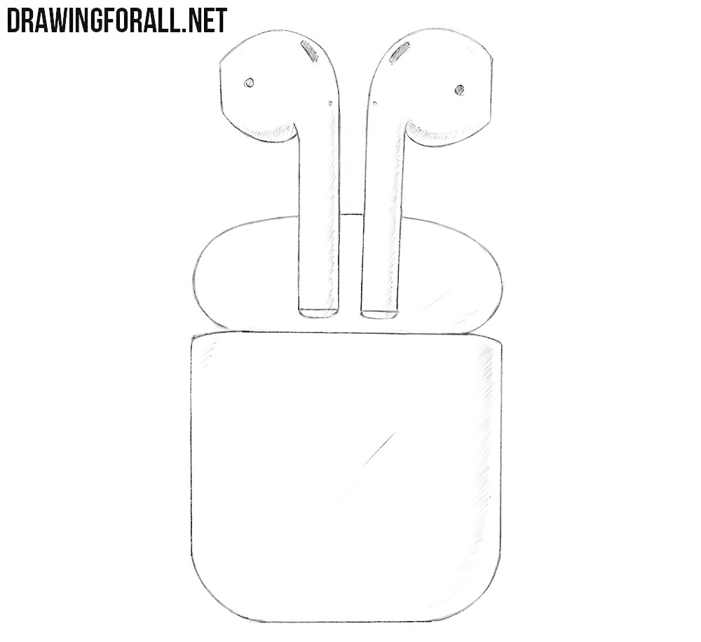 How to draw AirPods