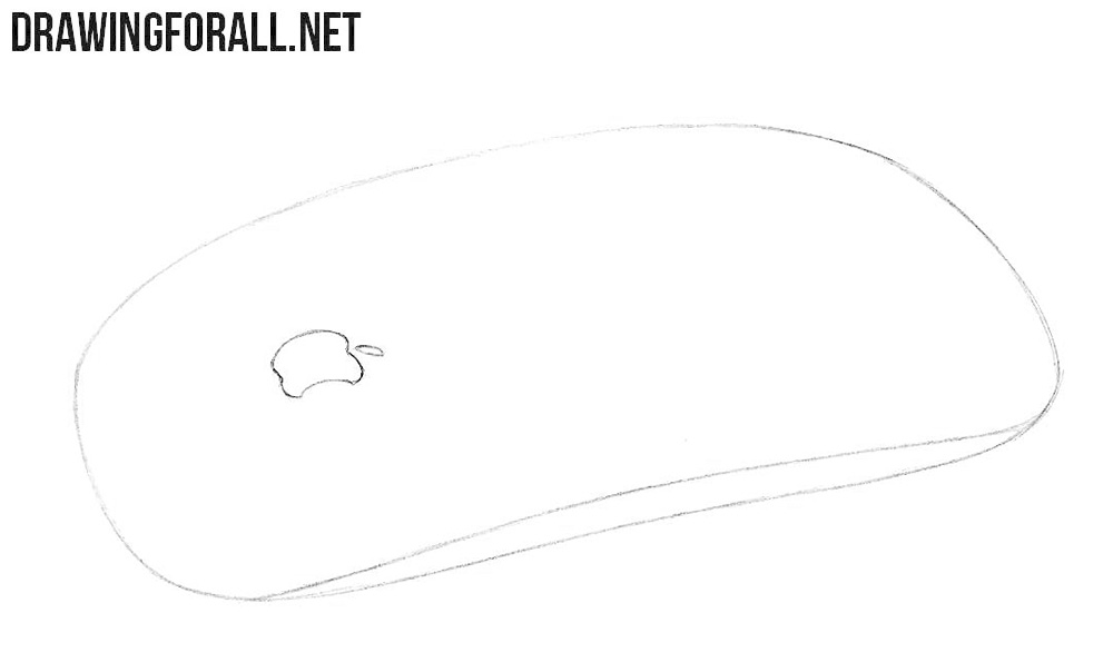 How to draw a Magic Mouse from Apple