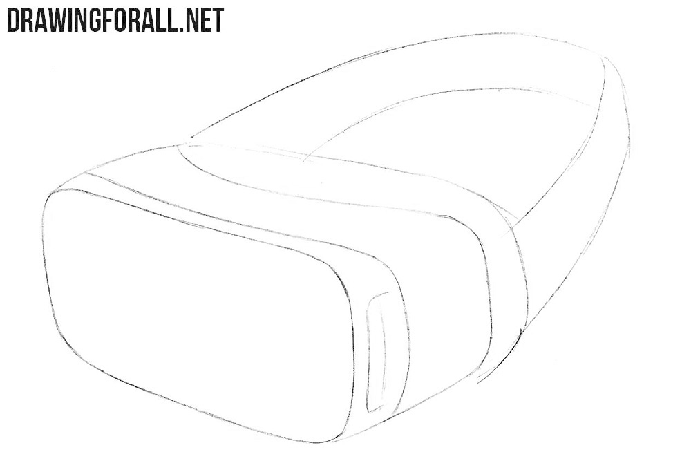 How to draw a virtual reality headset